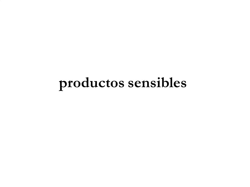 productos sensibles