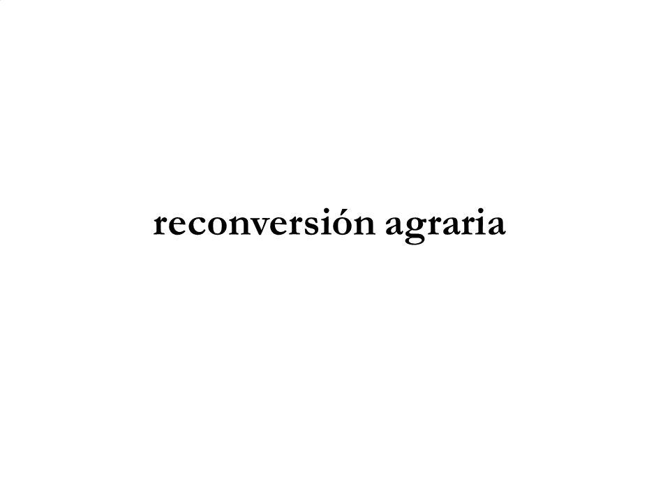 reconversión agraria