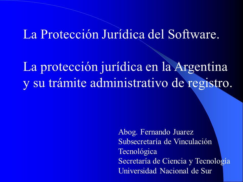 La Protección Jurídica del Software.