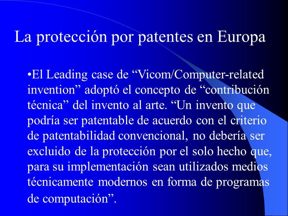 La protección por patentes en Europa