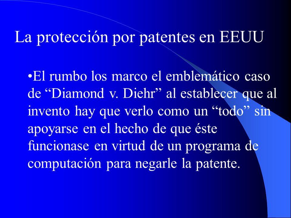 La protección por patentes en EEUU