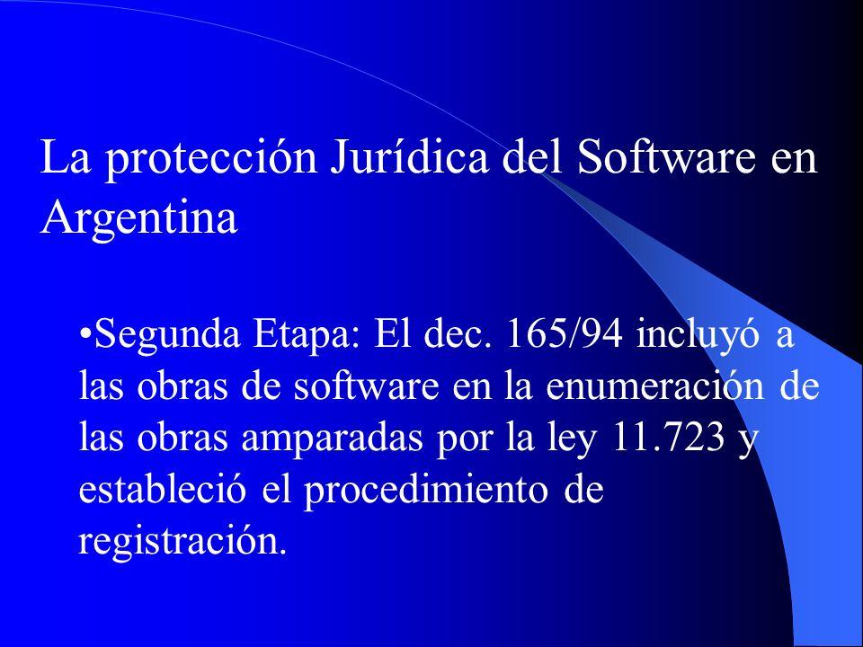 La protección Jurídica del Software en Argentina