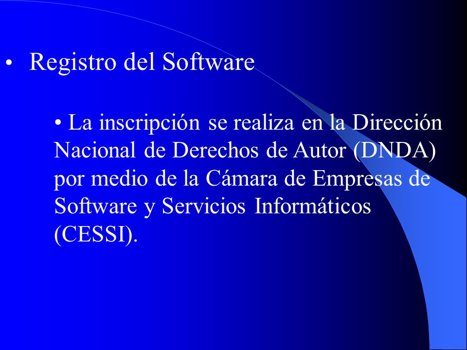 Registro del Software