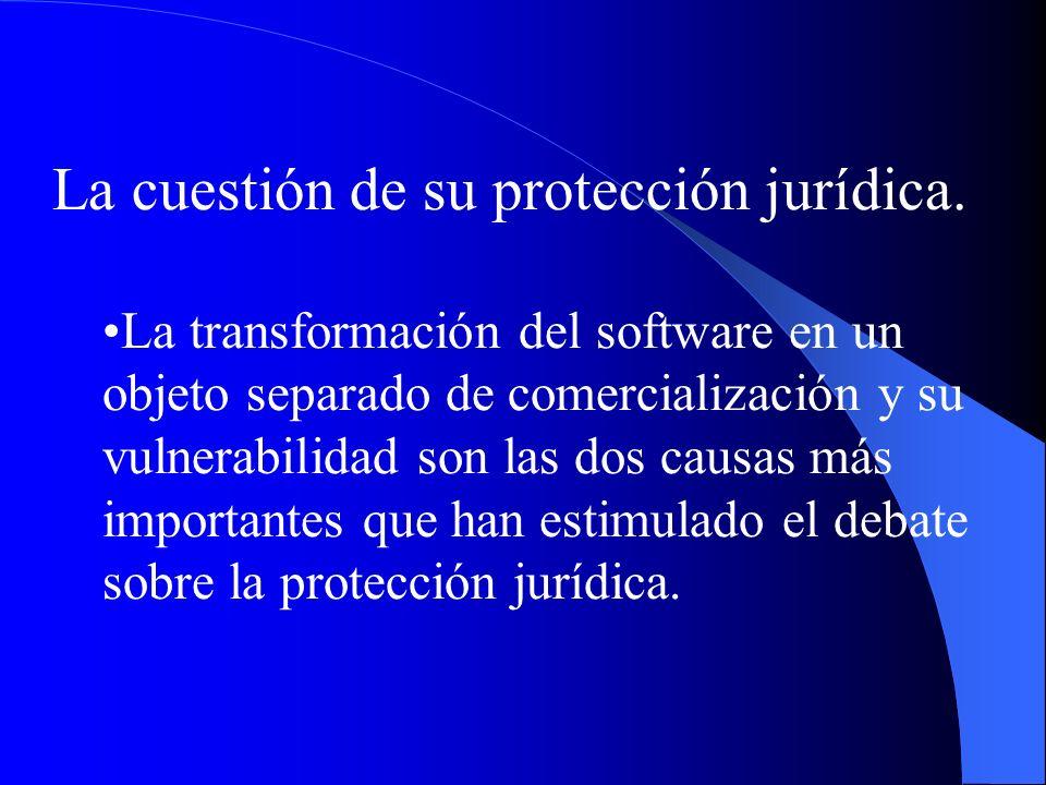 La cuestión de su protección jurídica.