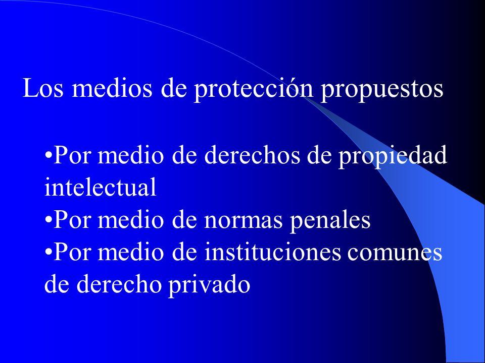 Los medios de protección propuestos