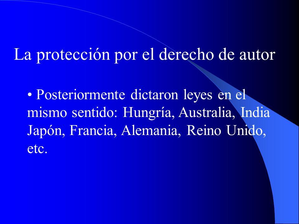 La protección por el derecho de autor