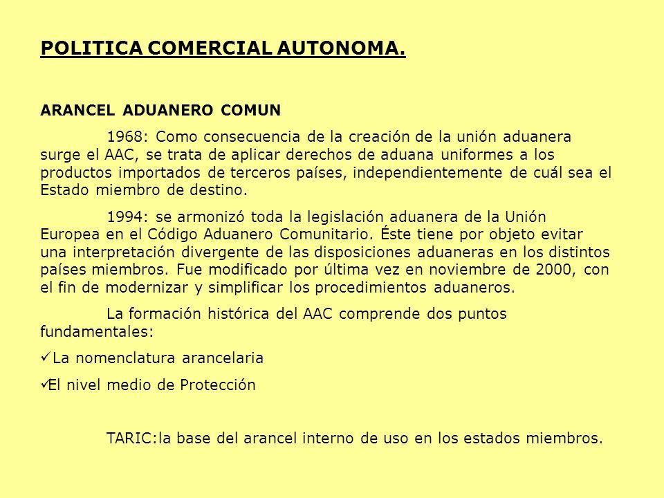 POLITICA COMERCIAL AUTONOMA.