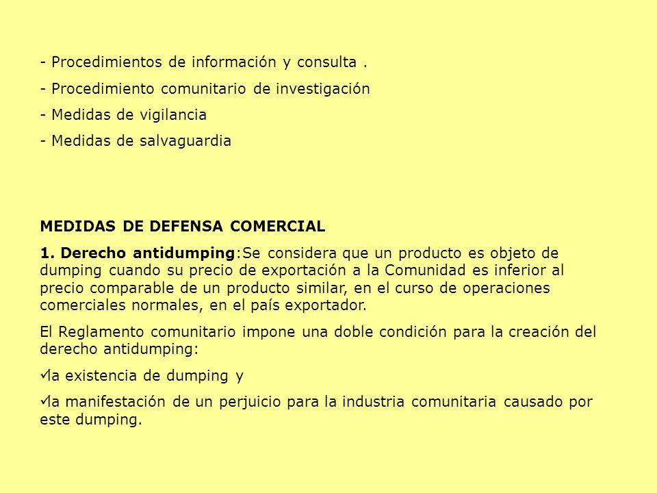 Procedimientos de información y consulta .