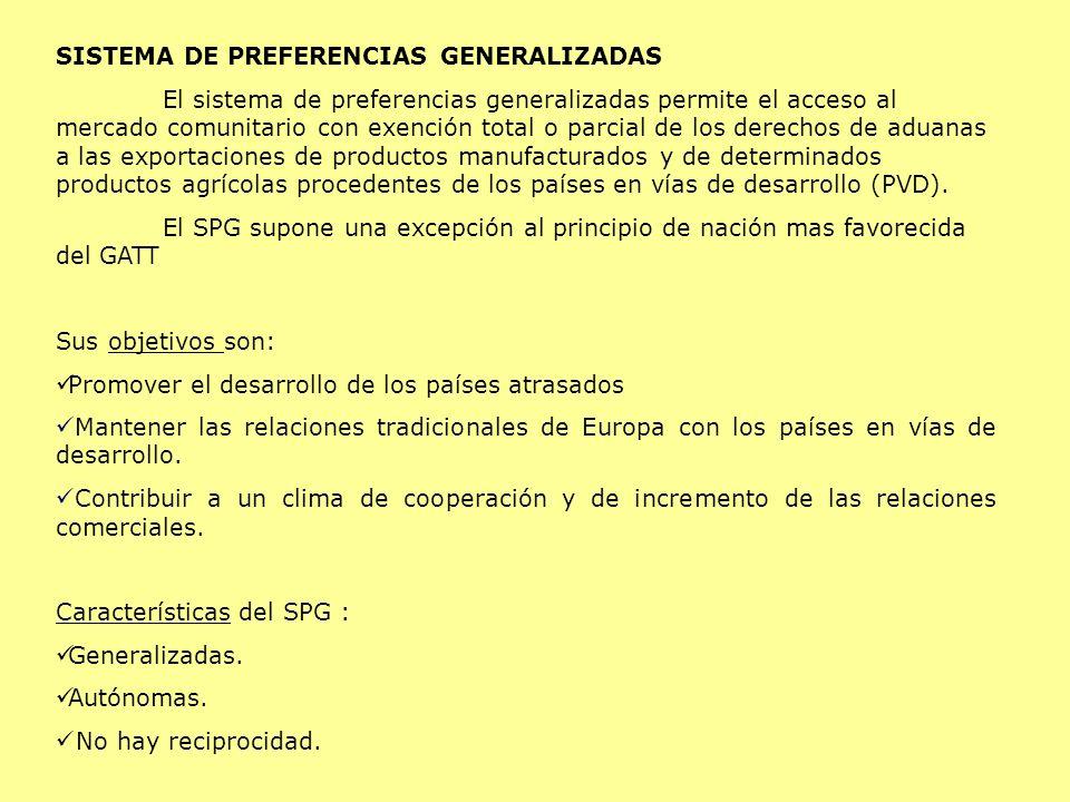 SISTEMA DE PREFERENCIAS GENERALIZADAS