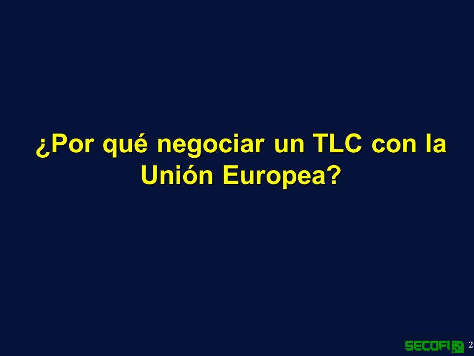 ¿Por qué negociar un TLC con la Unión Europea