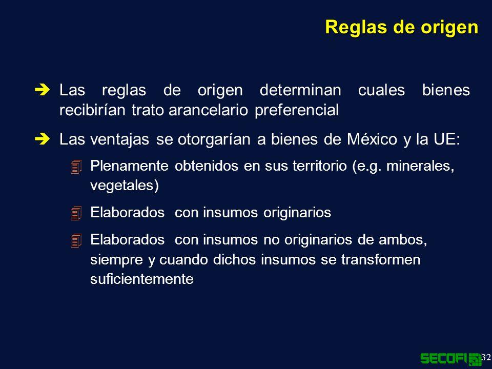 Reglas de origen Las reglas de origen determinan cuales bienes recibirían trato arancelario preferencial.