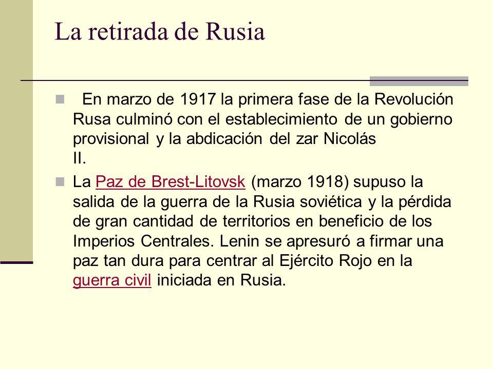 La retirada de Rusia