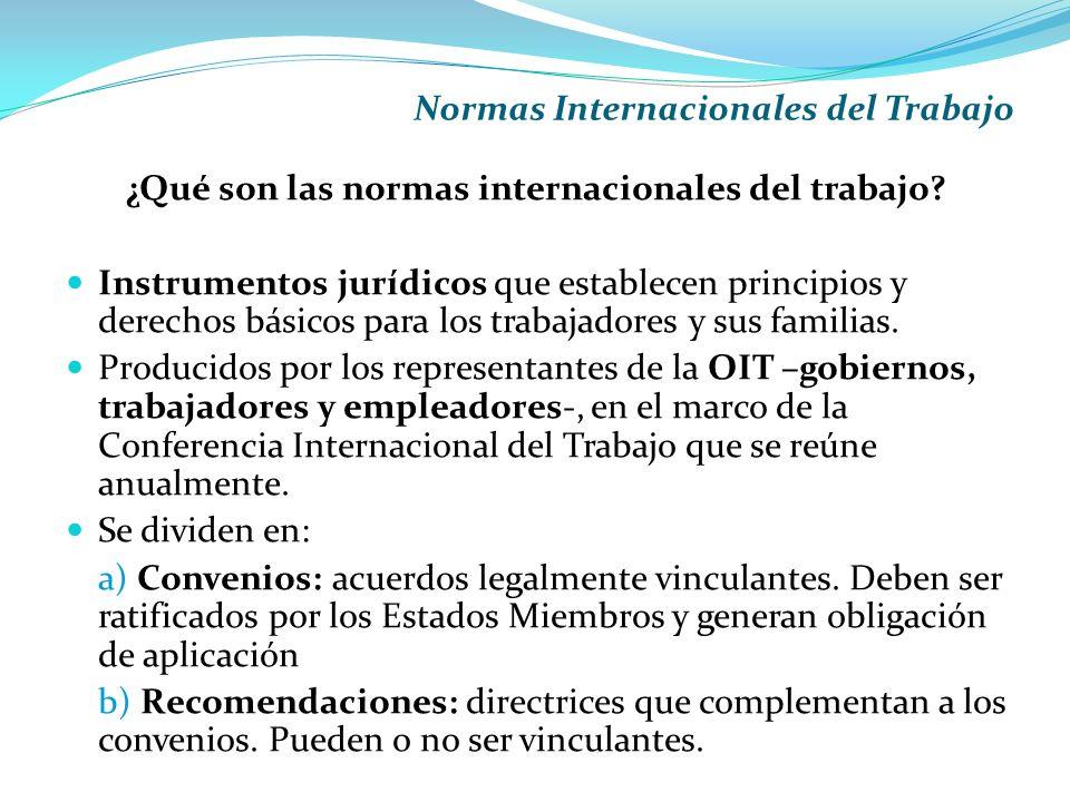 ¿Qué son las normas internacionales del trabajo
