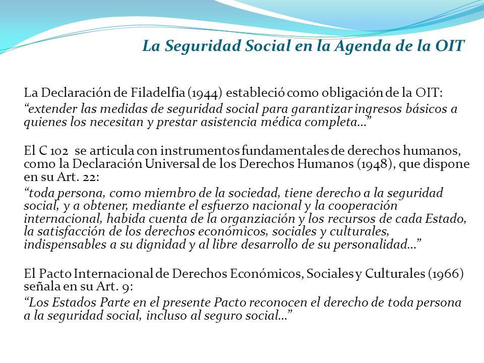 La Seguridad Social en la Agenda de la OIT