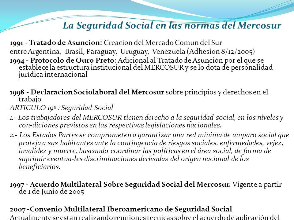 La Seguridad Social en las normas del Mercosur