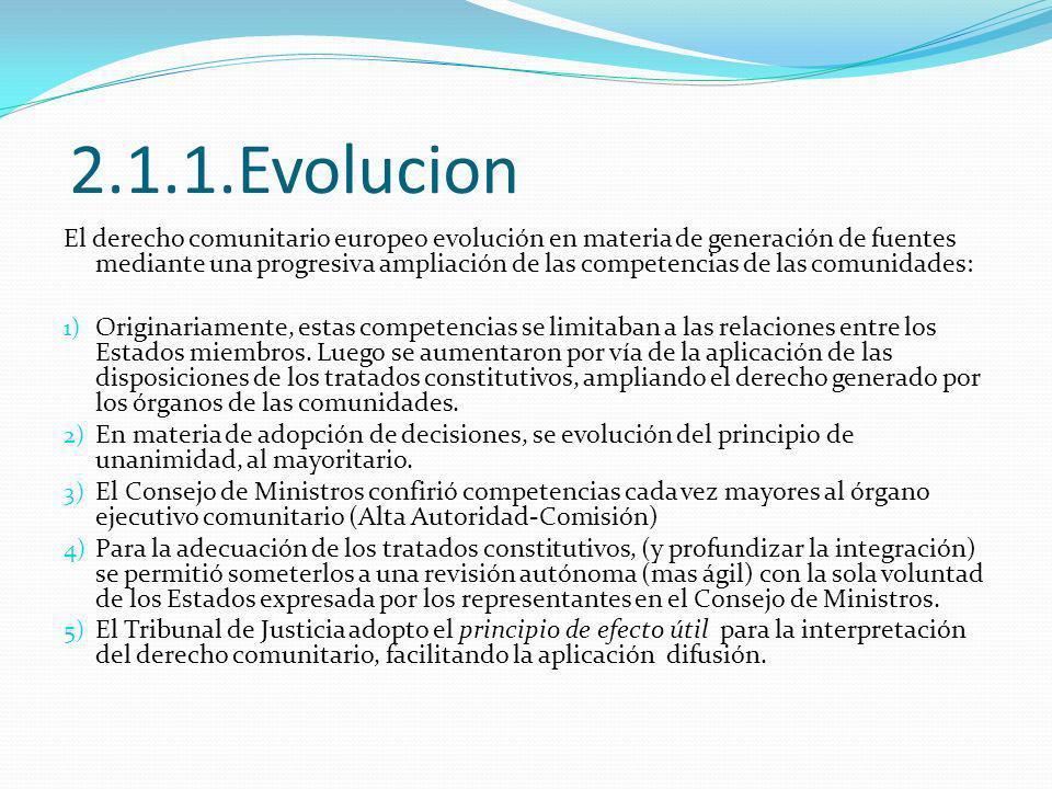 2.1.1.Evolucion