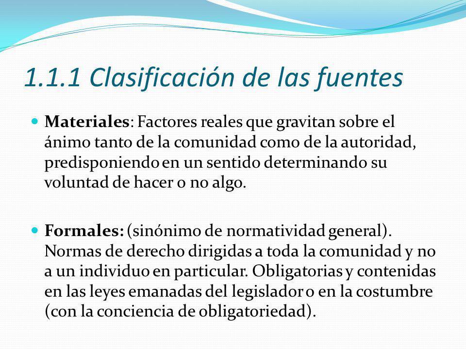 1.1.1 Clasificación de las fuentes