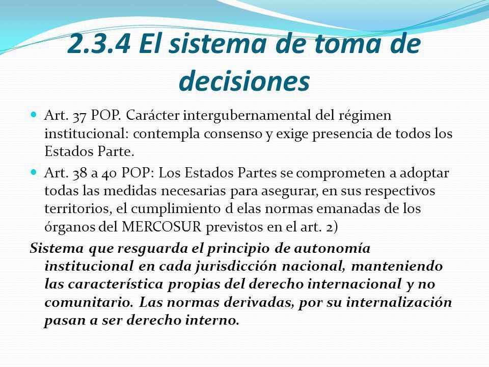2.3.4 El sistema de toma de decisiones