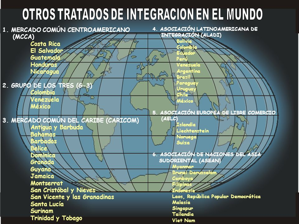 OTROS TRATADOS DE INTEGRACION EN EL MUNDO