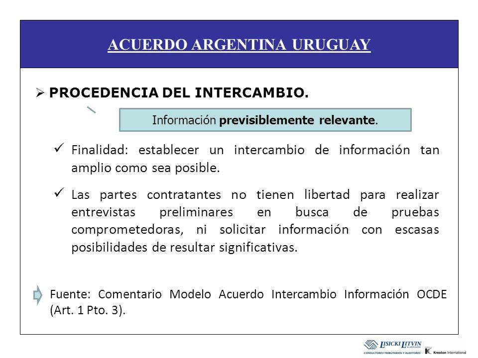 ACUERDO ARGENTINA URUGUAY