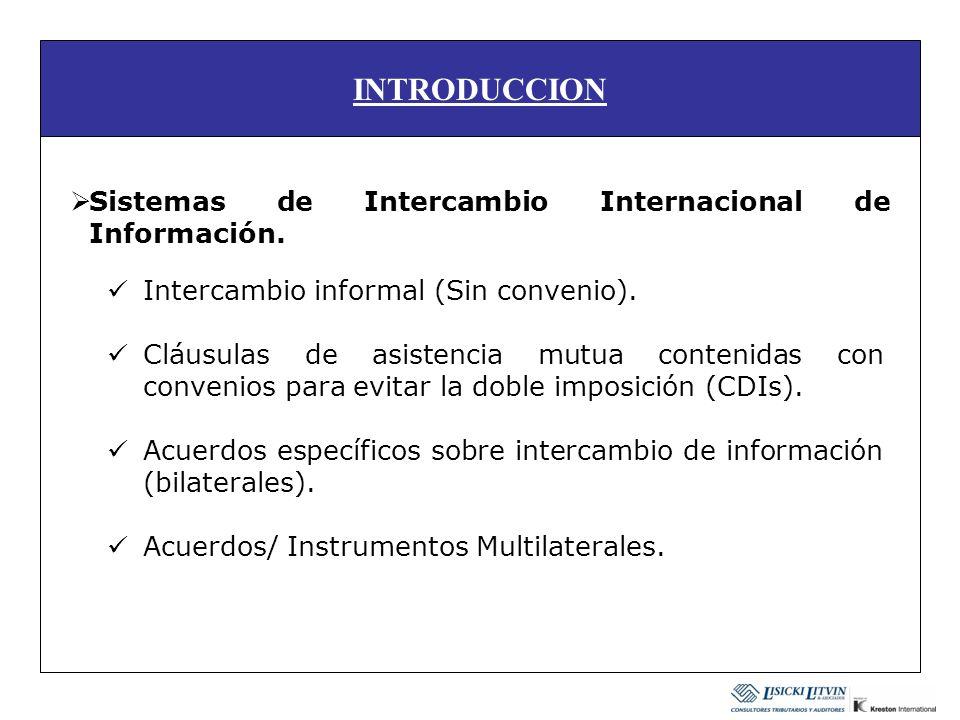 INTRODUCCION Sistemas de Intercambio Internacional de Información.