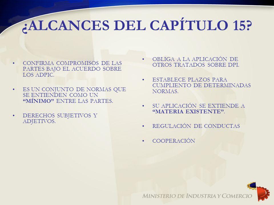 ¿ALCANCES DEL CAPÍTULO 15