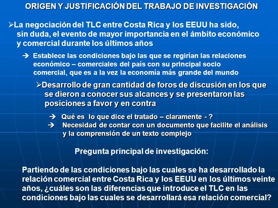 ORIGEN Y JUSTIFICACIÓN DEL TRABAJO DE INVESTIGACIÓN