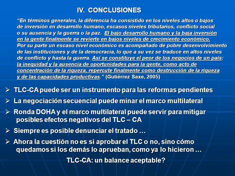 TLC-CA puede ser un instrumento para las reformas pendientes