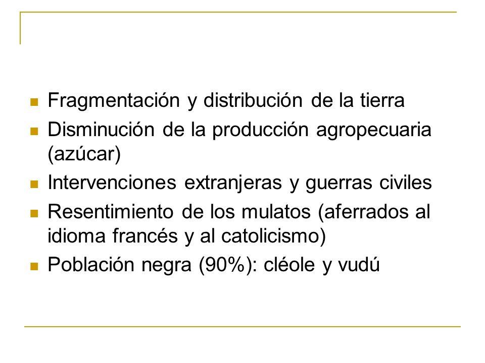 Fragmentación y distribución de la tierra