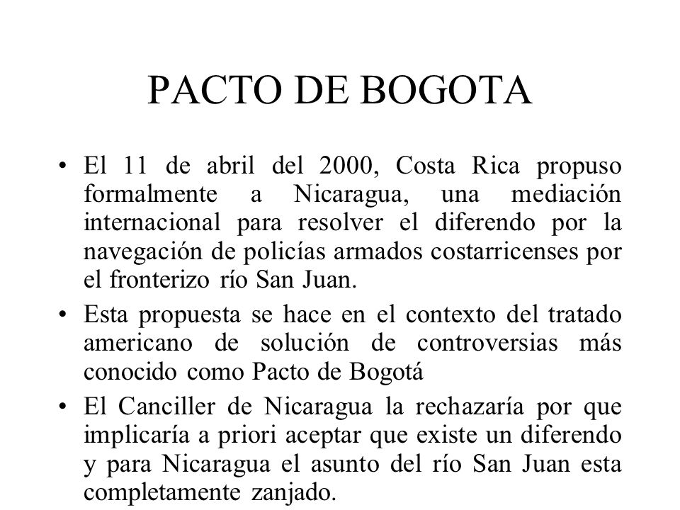 PACTO DE BOGOTA
