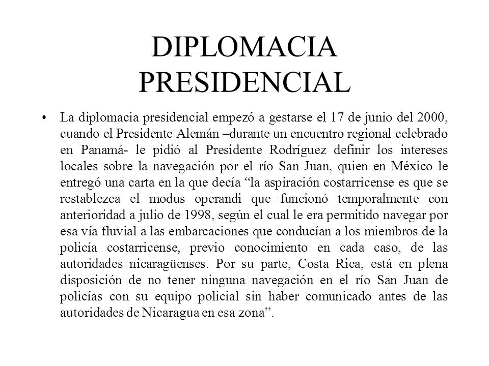 DIPLOMACIA PRESIDENCIAL