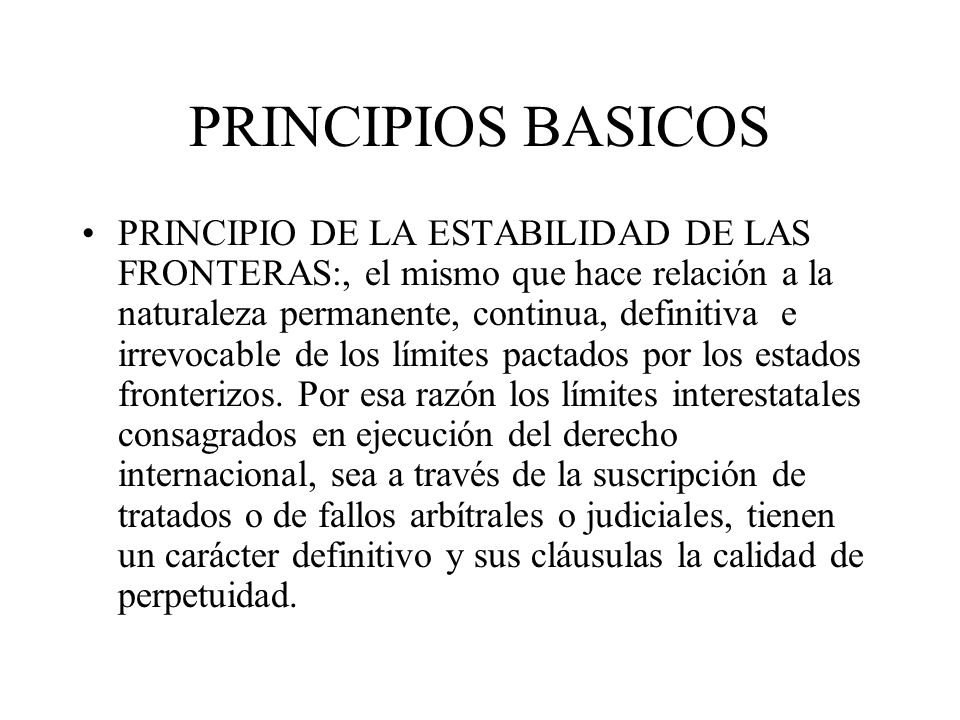 PRINCIPIOS BASICOS