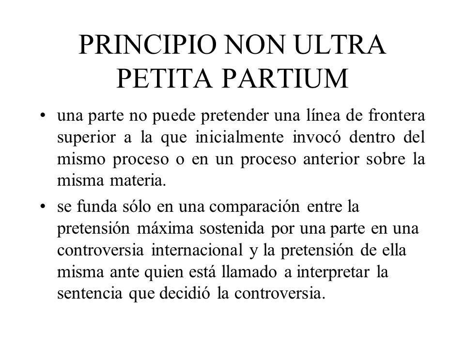 PRINCIPIO NON ULTRA PETITA PARTIUM