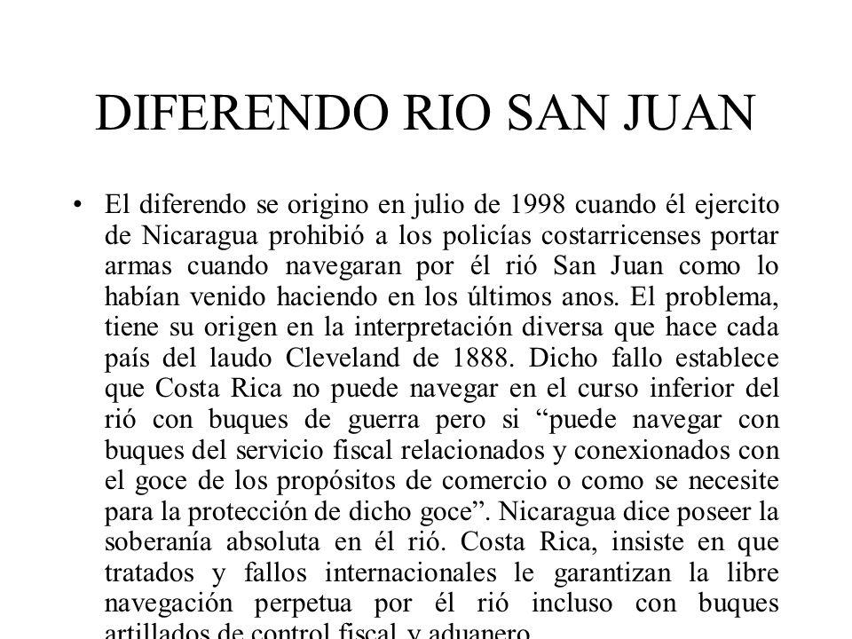 DIFERENDO RIO SAN JUAN