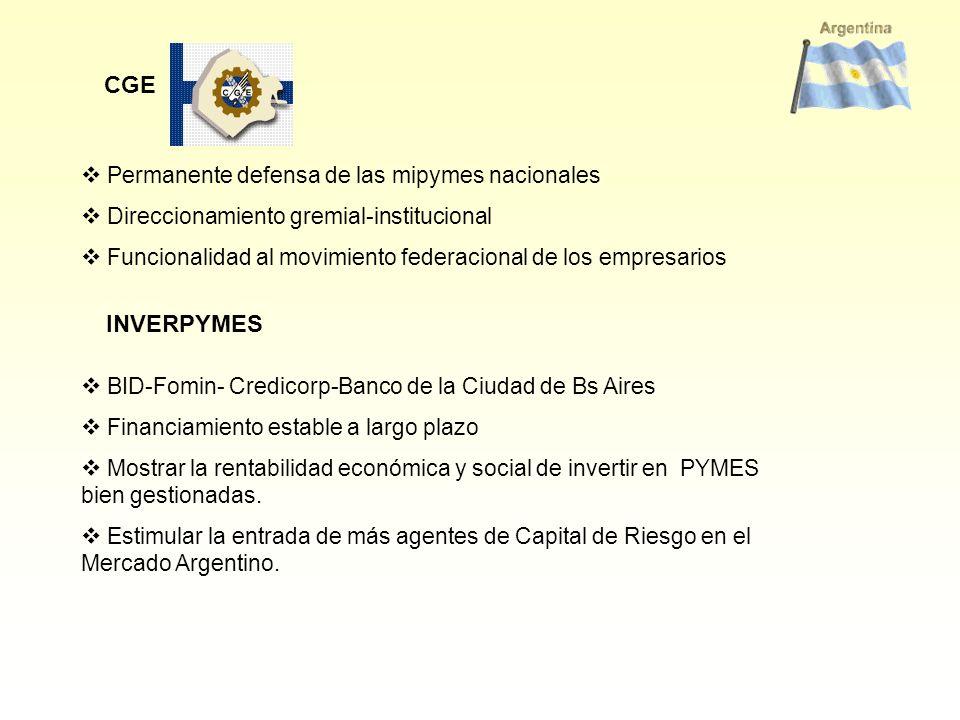 CGE INVERPYMES Permanente defensa de las mipymes nacionales