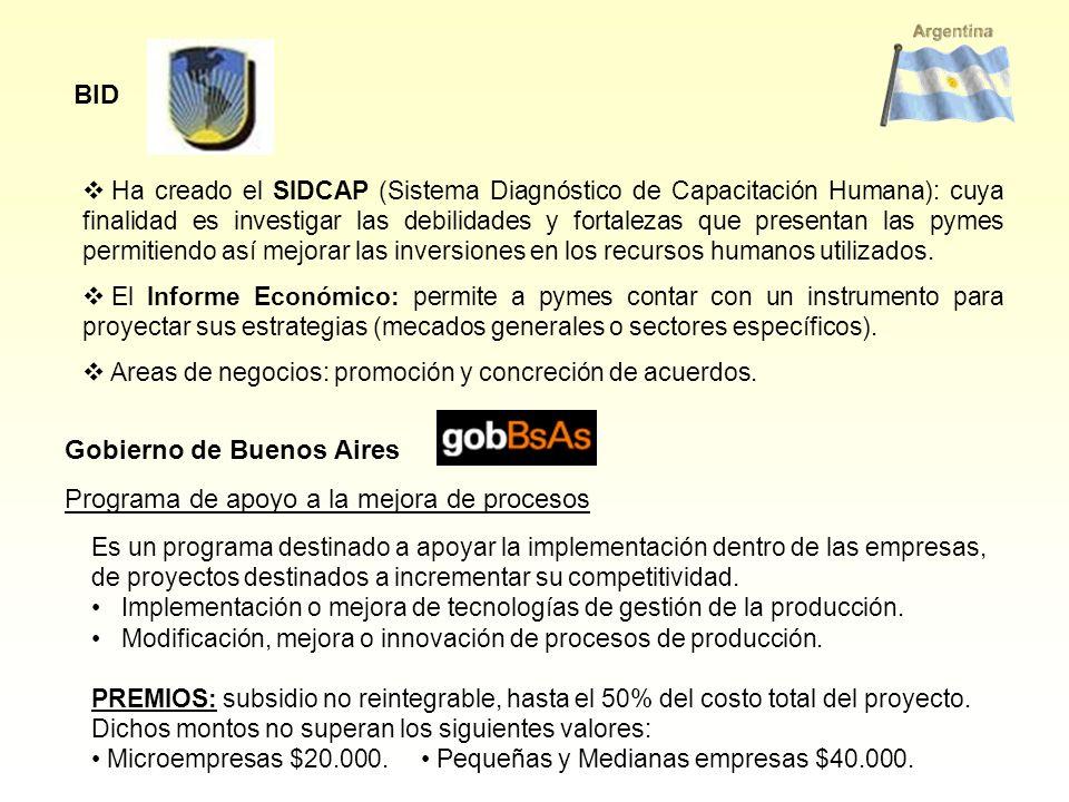 Gobierno de Buenos Aires Programa de apoyo a la mejora de procesos