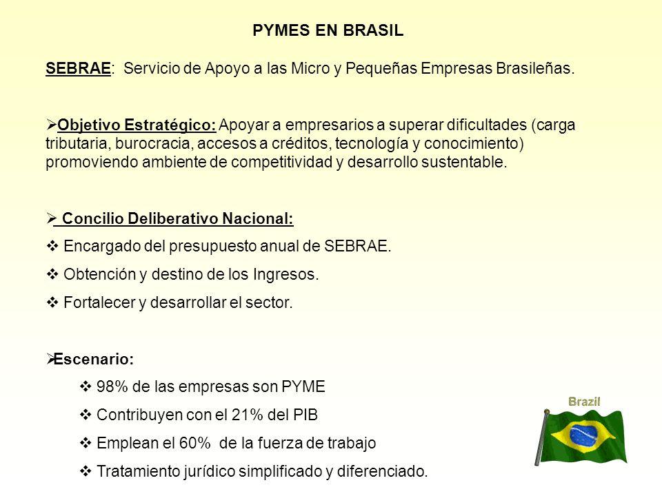 PYMES EN BRASIL SEBRAE: Servicio de Apoyo a las Micro y Pequeñas Empresas Brasileñas.