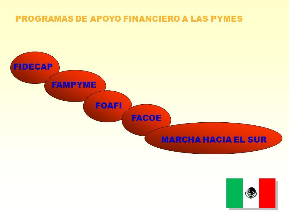 PROGRAMAS DE APOYO FINANCIERO A LAS PYMES