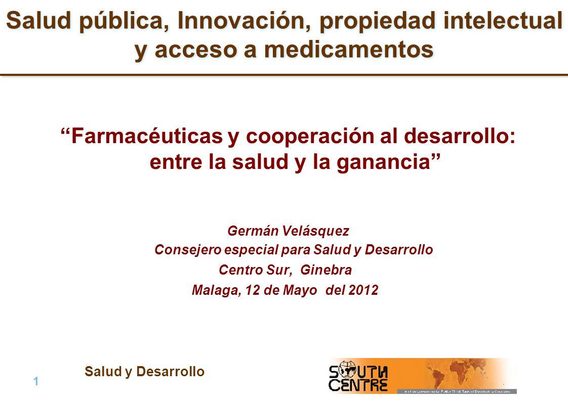 Germán Velásquez Consejero especial para Salud y Desarrollo