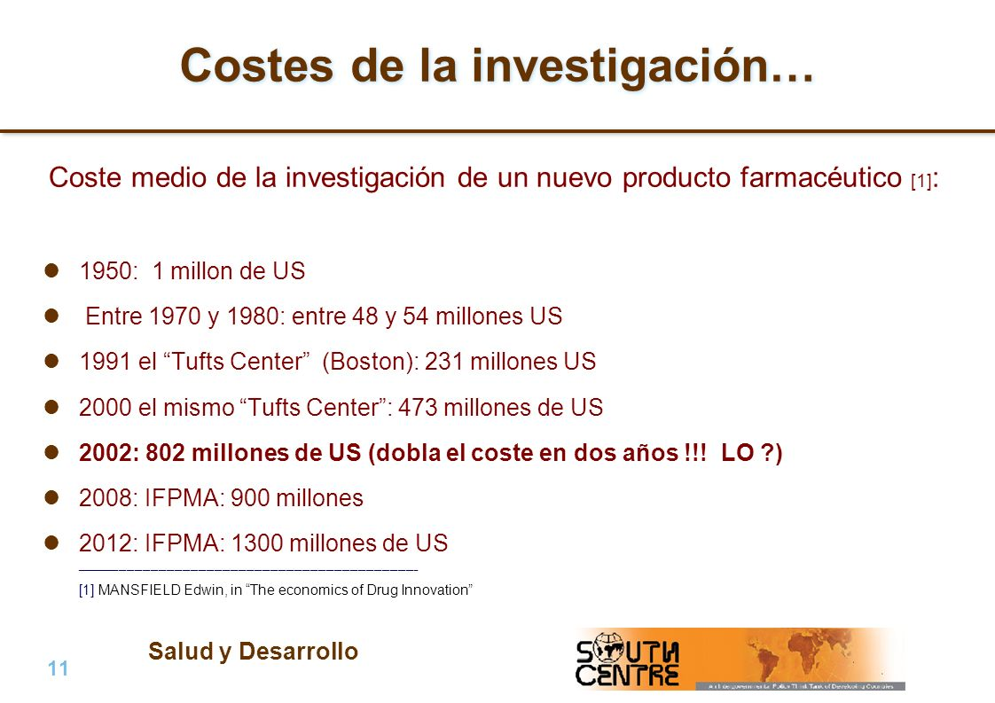 Costes de la investigación…