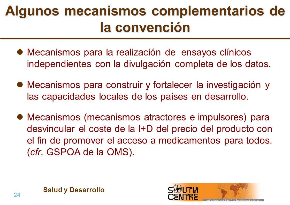 Algunos mecanismos complementarios de la convención