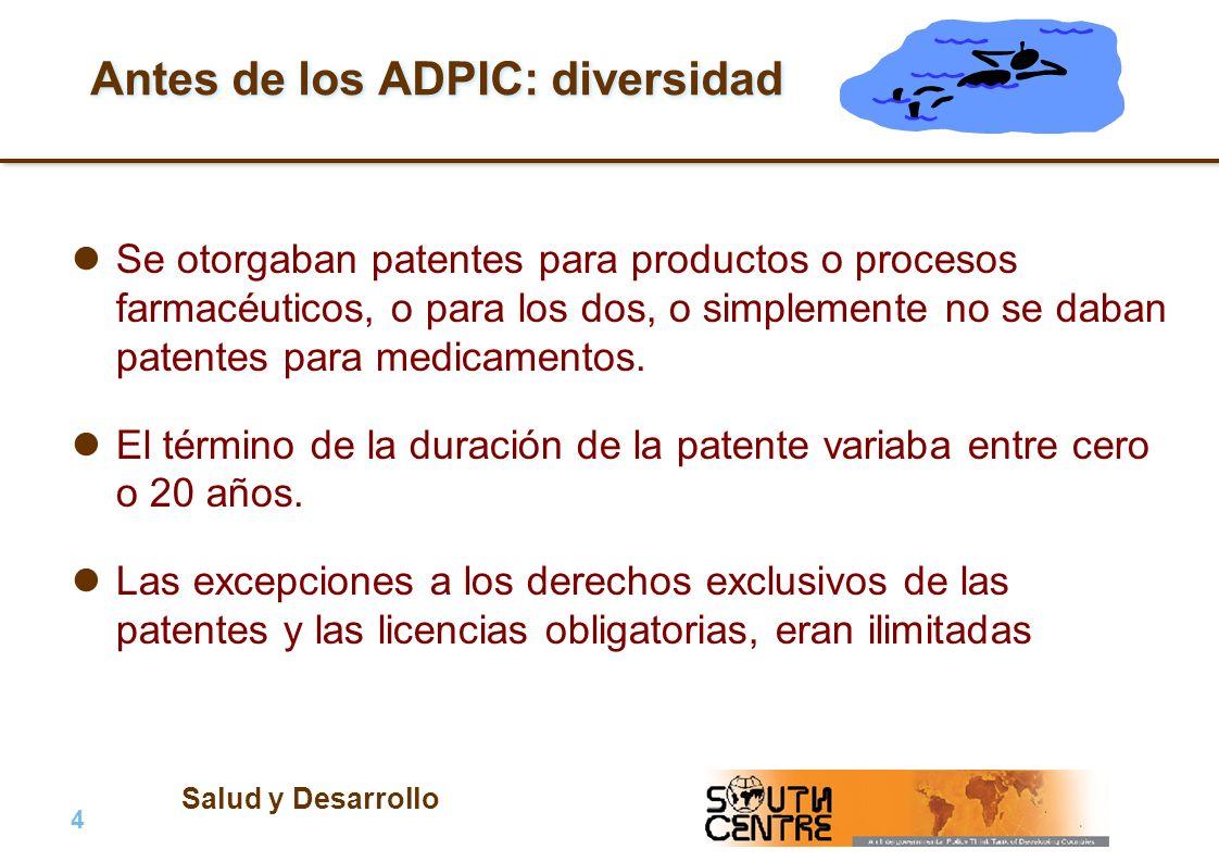 Antes de los ADPIC: diversidad