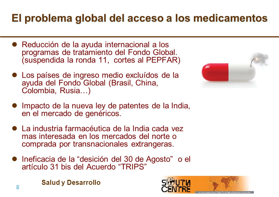 El problema global del acceso a los medicamentos