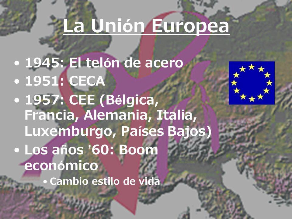La Unión Europea 1945: El telón de acero 1951: CECA