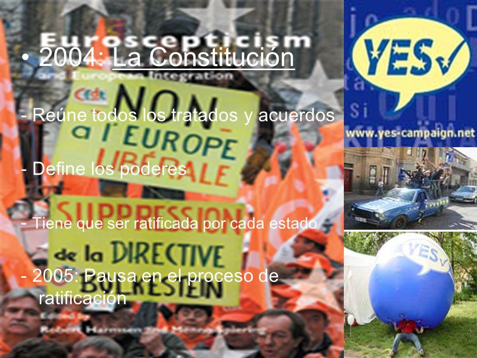 2004: La Constitución - Reúne todos los tratados y acuerdos