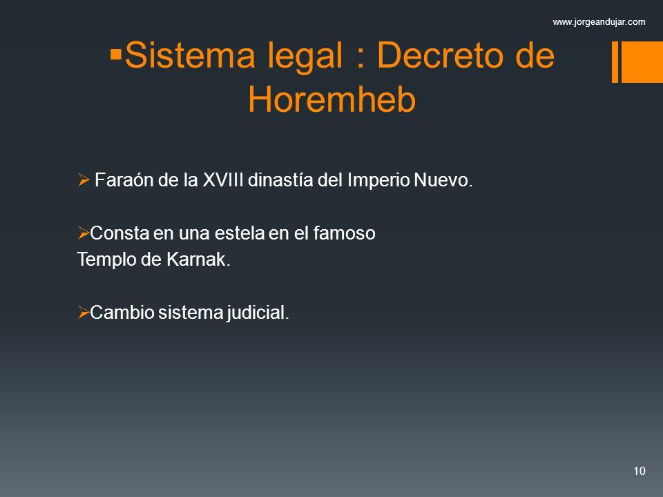Sistema legal : Decreto de Horemheb