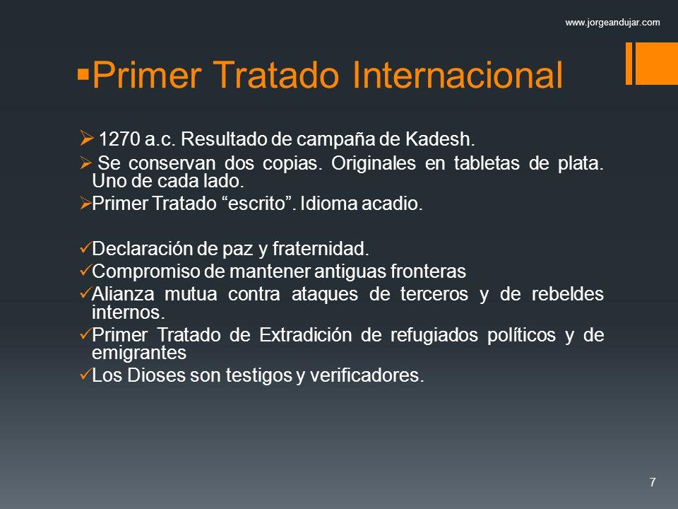 Primer Tratado Internacional