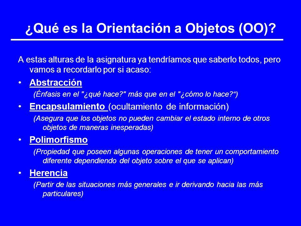 ¿Qué es la Orientación a Objetos (OO)