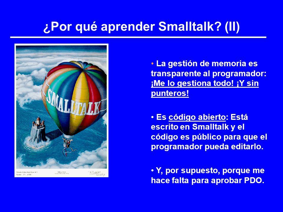 ¿Por qué aprender Smalltalk (II)