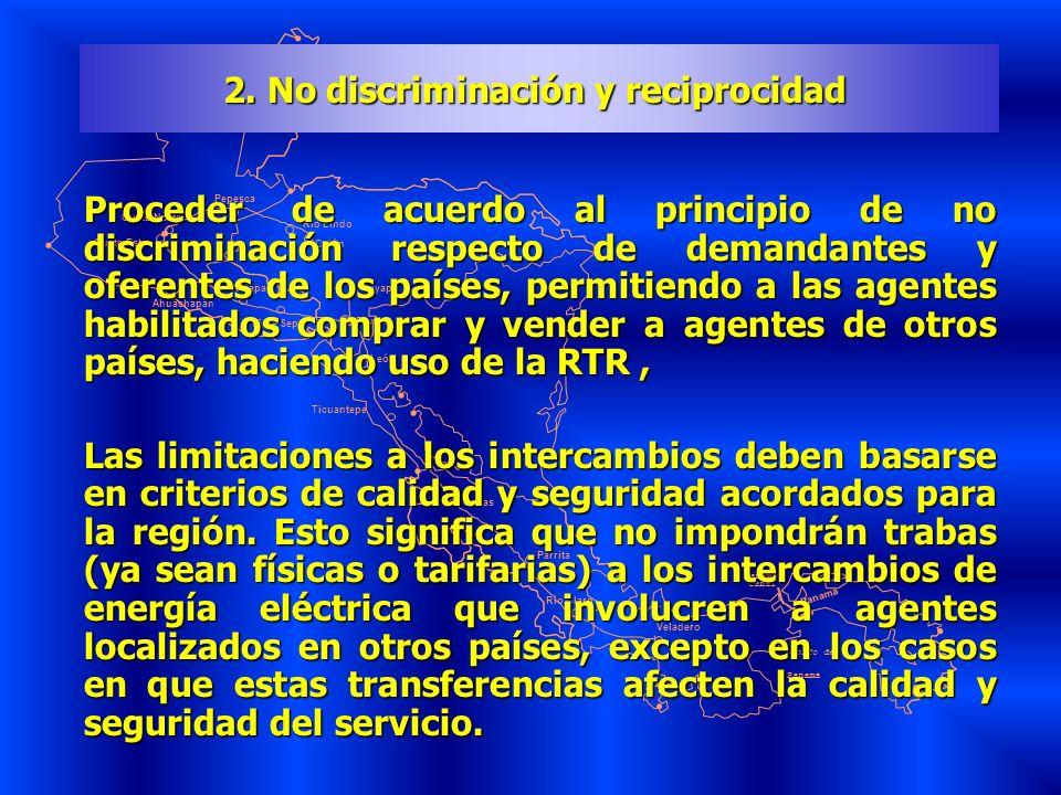 2. No discriminación y reciprocidad